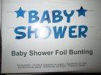 Baby shower foil bunting, Trznadel, aby dodać blasku uroczystościom z okazji narodzin dziecka