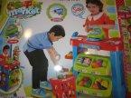 Super Market Green, Zabawa w sklep, Kasa, Koszyk, Lada, Produkty, Stoisko sprzedażowe, zabawka, zabawki