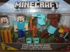 Minecraft, Steve And Armored Horse, Steve i Opancerzony koń