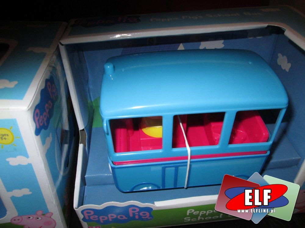 Świnka Peppa, Peppa Pig, Szkolny autobus i inne zabawko Peppa
