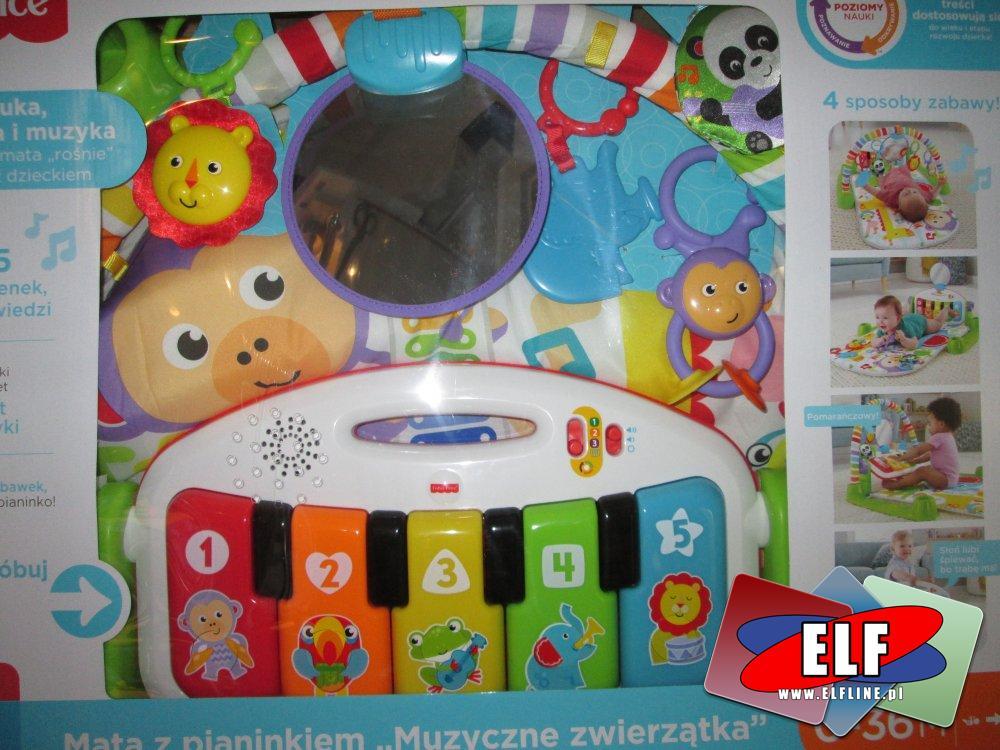 Fisher-Price Mata z pianinkiem, edukacyjna, kreatywna zabawka dla dzieci