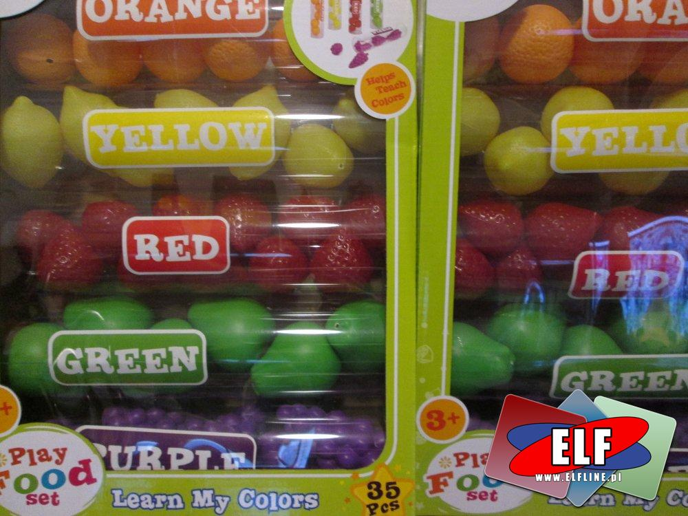 Play Food Set, lern my color, zabawka ucząca kolorów