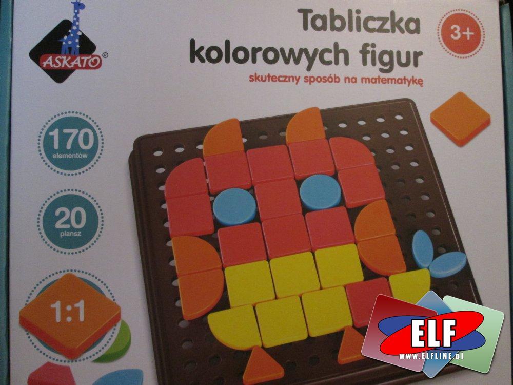 Zabawka edukacyjna, Tabliczka kolorowych figur, skuteczny sposób na matematykę, Gra edukacyjna, gry i zabawki edukacyjne