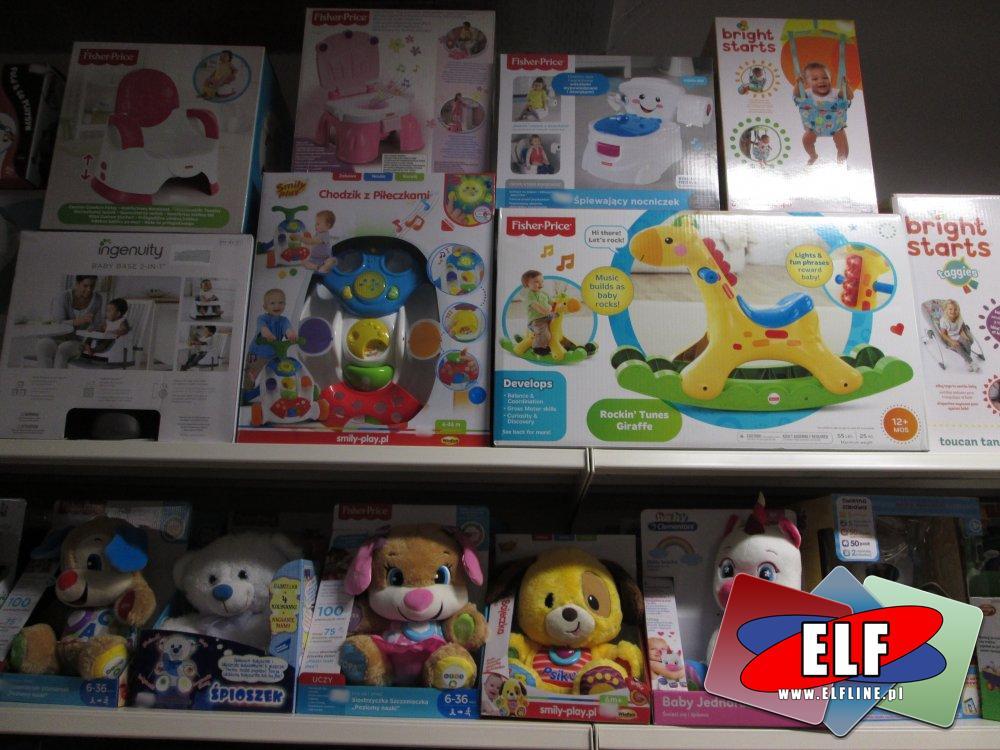 Fisher-Price Konik, Bujaczek dla dziecka, kołyska, kołyski, siedzisko, Pchacz i inne akcesoria oraz zabawki dla malucha, maluchów, dzieci