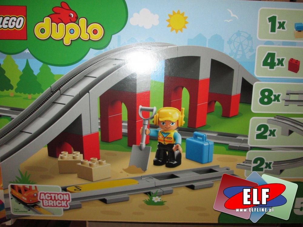 Lego Duplo, 10872 Tory kolejowe i wiadukt, klocki