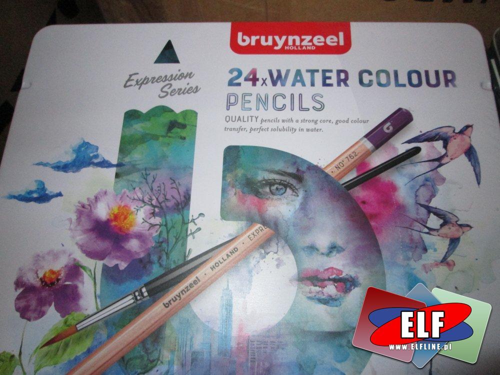 Bruynzeel 24 wodne kolory, kredki akwarelowe