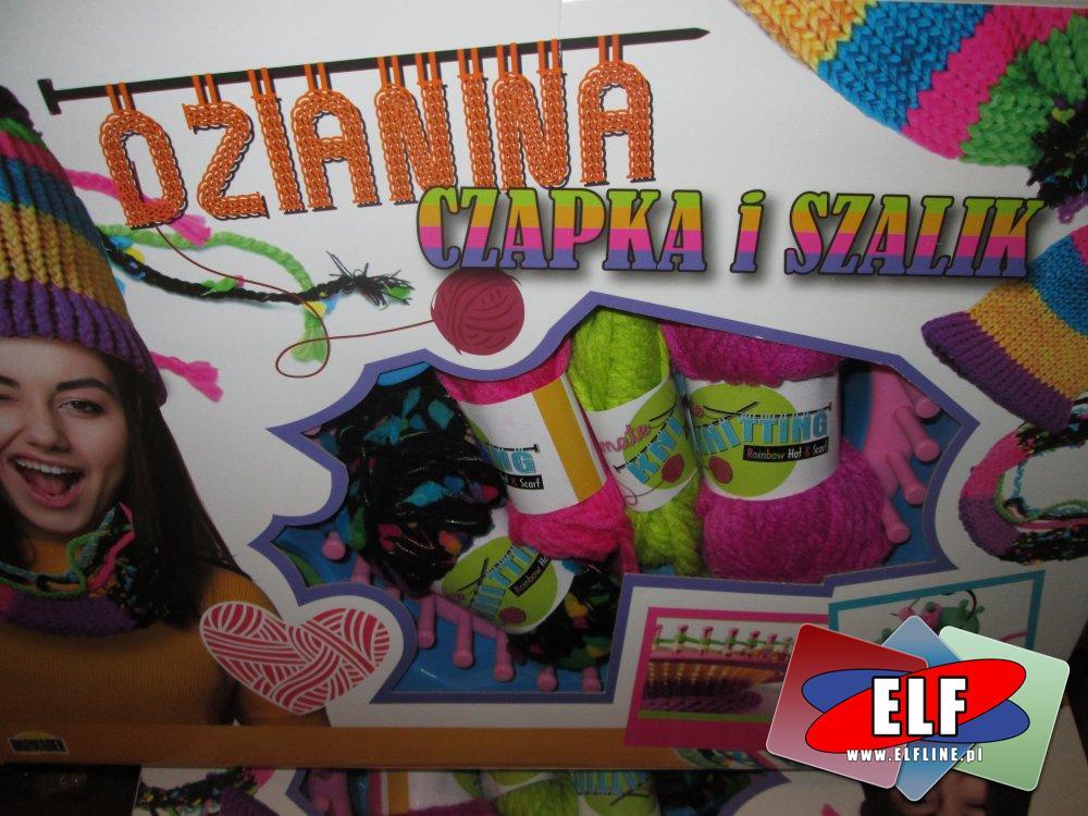 Dzianina, Czapka i Szalik, zestaw kreatywny, zestawy kreatywne