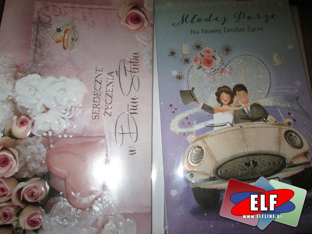 Gratulacje, Kartki upominkowe, Karnety z okazji ślubu, ślubne