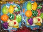 Plastikowe warzywa i owoce, zabawka, zabawki, do zabawy w sklep, dom, kuchnię itp.