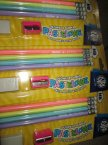 Ołówki z gumką pastelowe, temperówka, gumka, ołówek pastelowy Ołówki z gumką pastelowe, temperówka, gumka, ołówek pastelowy