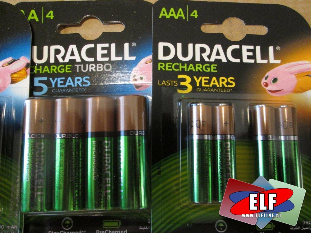 Akumulatorki Duracell, AAA, AA i inne