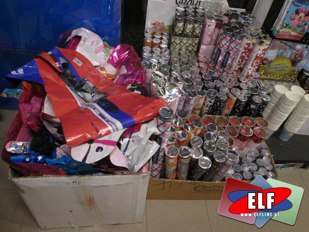 Konfetti pneumatyczne, balony i inne akcesoria imprezowe