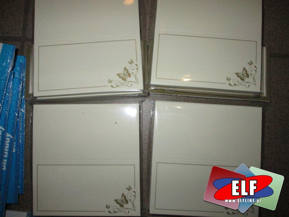 Karteczki imienne na stół, Do oznaczanie miejsc imiennych na imprezach, weselach itp.