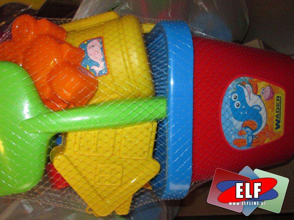 Wader, wiaderka, grabki i inne akcesoria do piaski, na plażę, zabawki