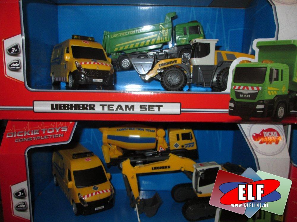 Maszyny budowlane, Liebherr, samochody, zabawki