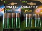 Akumulatorki Duracell, AAA, AA i inne Akumulatorki Duracell, AAA, AA i inne