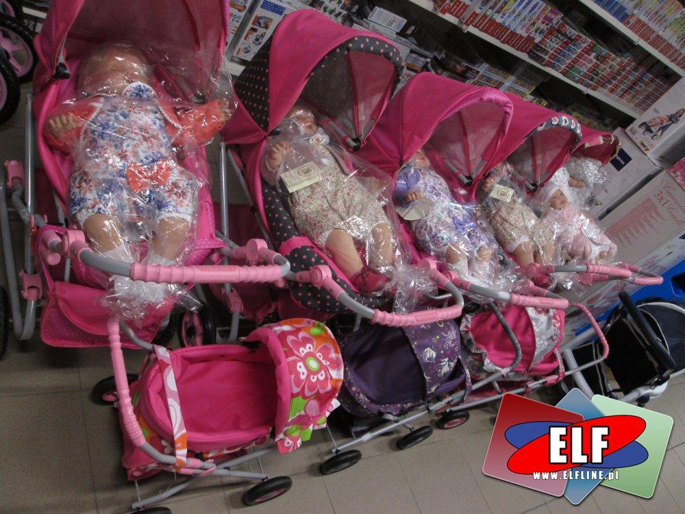 Wózki dla lalek, lalki, Wózek dla lalki, lalka