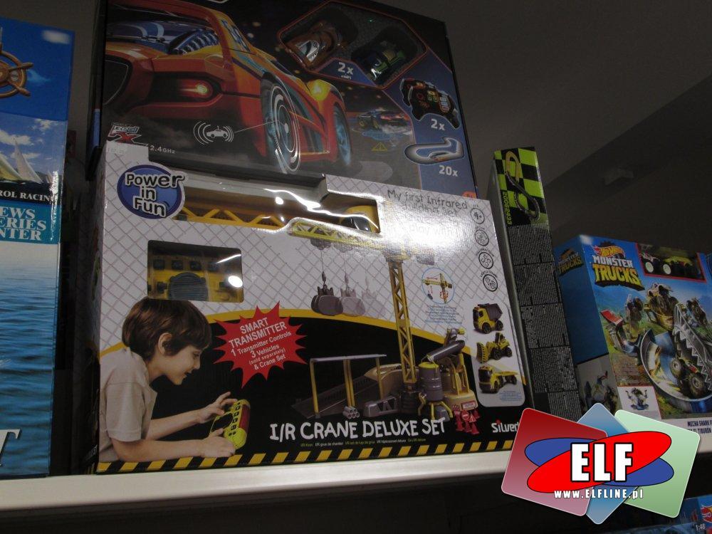 Dźwig zdalnie sterowany, Dźwigi, Hot Wheels Monster Truck i inne zabawki, zestawy i trasy