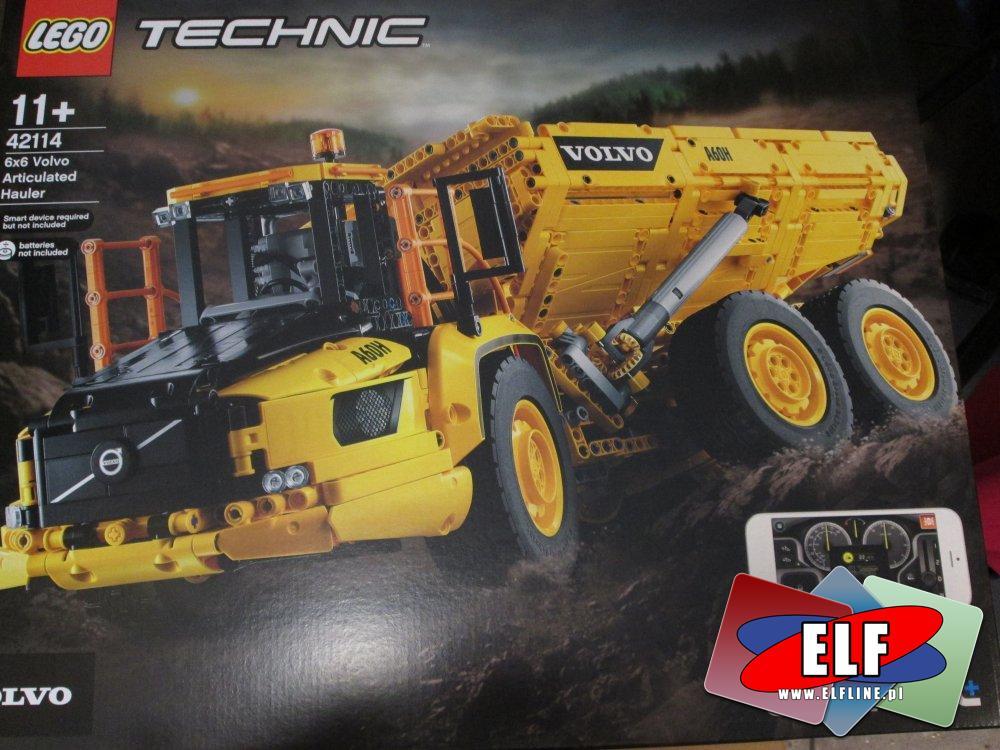 Lego Technic, 42114 Wozidło przegubowe Volvo 6x6, klocki, CONTROL+
