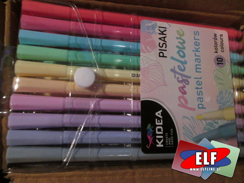 Kidea Pisaki, pastelowe kolory, szkolny flamaster, szkolne akcesoria