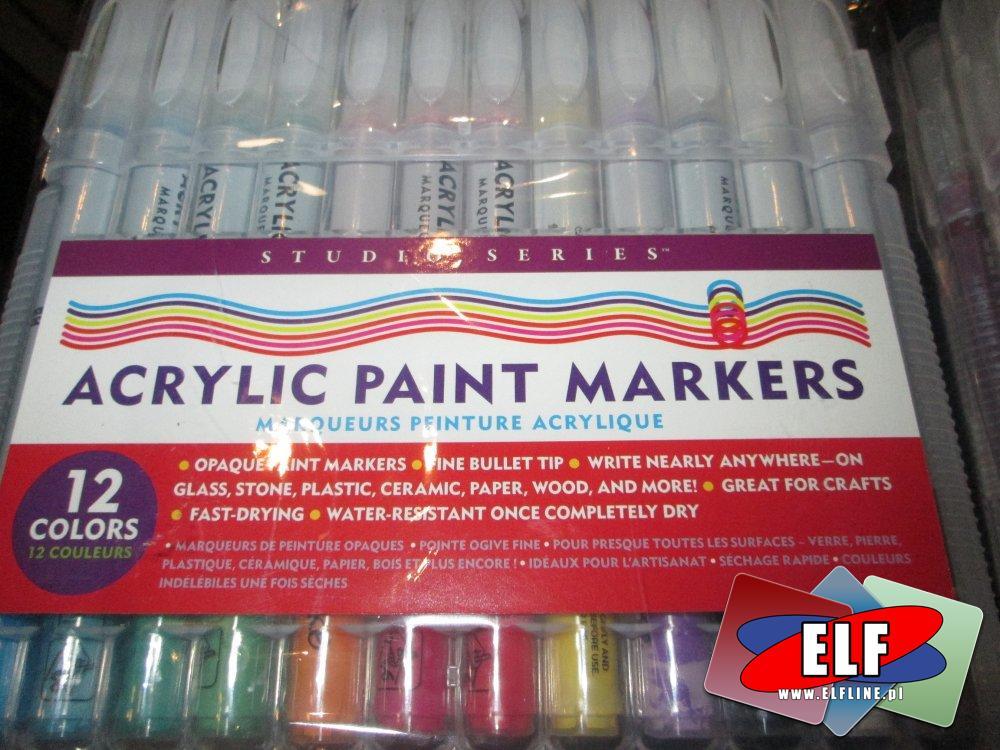 Markery Akrylowe, Acrylic Paint Markers, Studio Series, Markery, Flamastry, Flamaster, Mazak, Marker, Mazaki