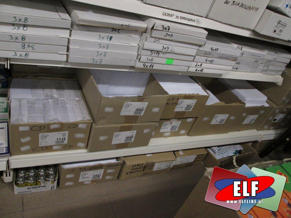 Brzbiety do bindowania, Koperty i inne akcesoria biurowe
