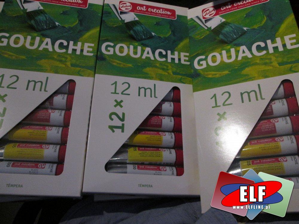 Gouache, Gwasze, farba wodna