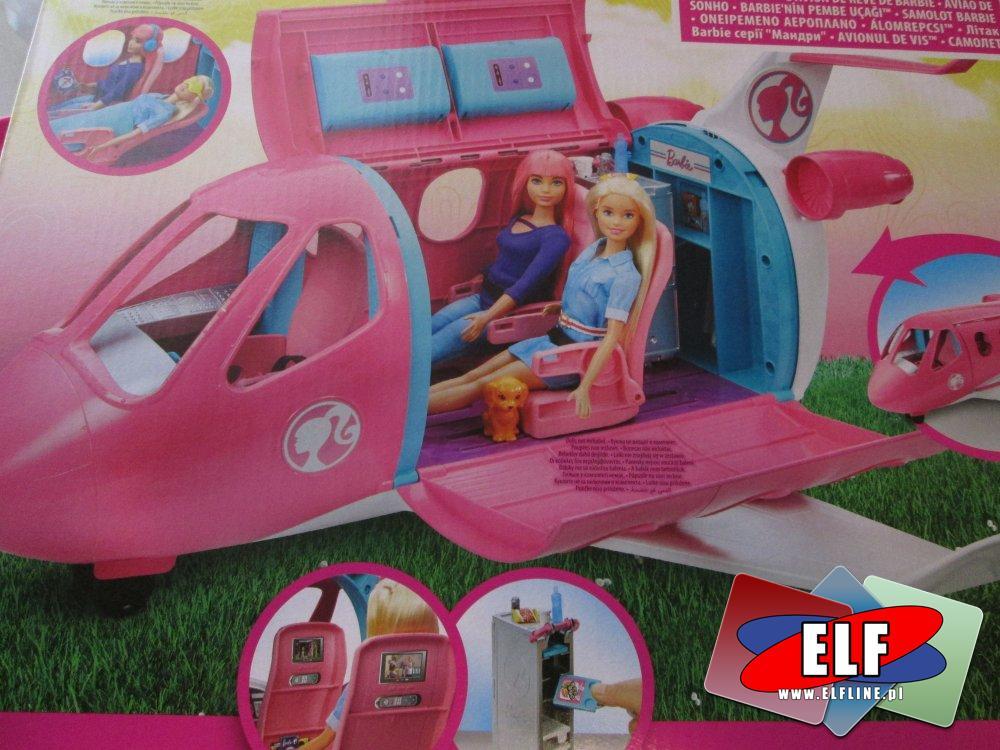Lalka Barbie, Samolot, Lalki, Samoloty, Akcesoria