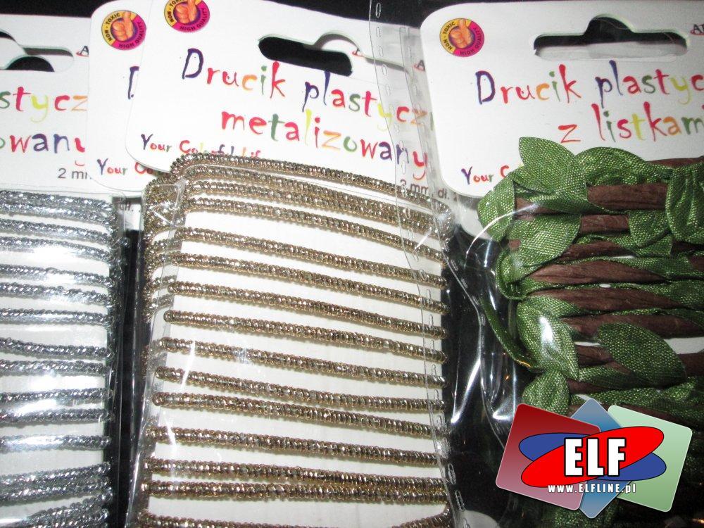 Drucik plastyczny, metalizowany, druciki plastyczne, artystyczne ozdoby, ozdoba artystyczna