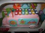Cymbałki na samochodziku, instrument muzyczny, zabawka, zabawkowe instrumenty muzyczne