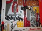 Deluxe Tools, zestaw narzędzi dla małego majsterkowicza, narzędzia plastikowe