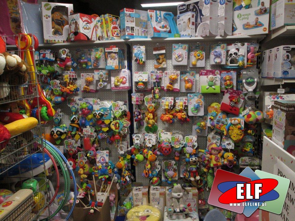 Zabawki i akcesoria dla najmłodszych, gryzaki, kołyski i inne zabawki dla dzieci, różne