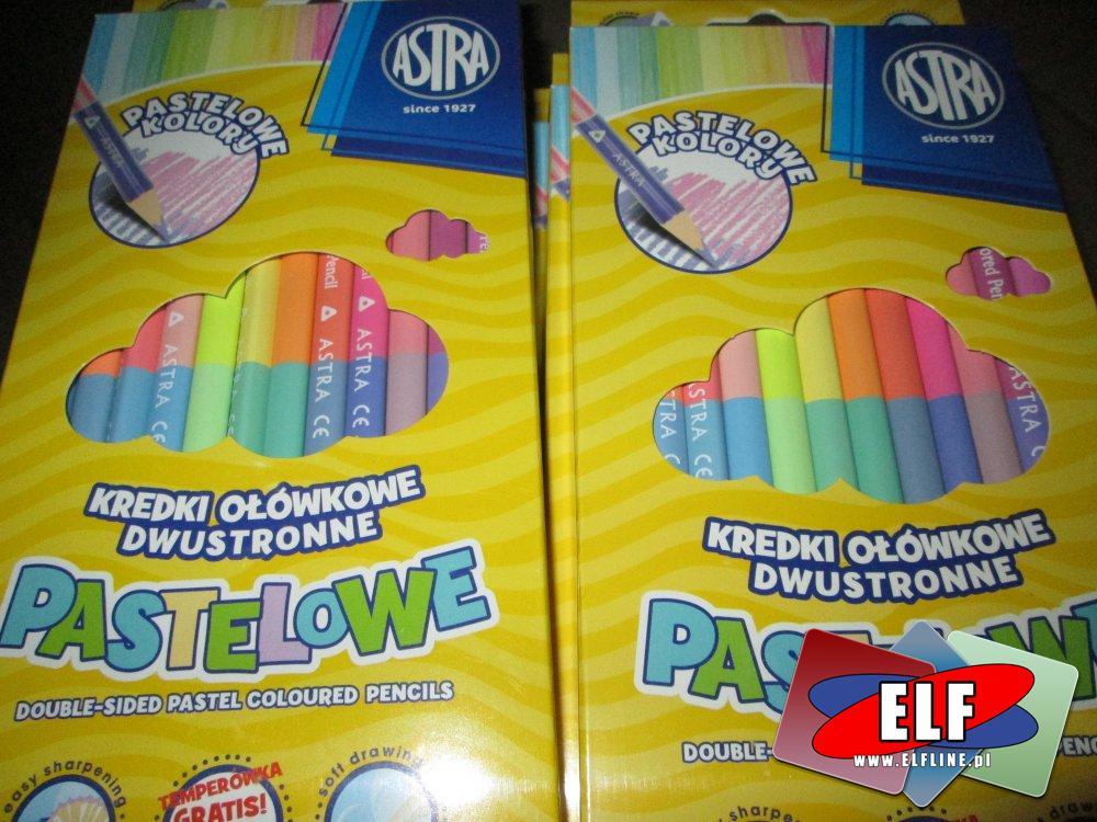 Pastelowe kredki ołówkowe dwustronne, kredka ołówkowa dwustronna