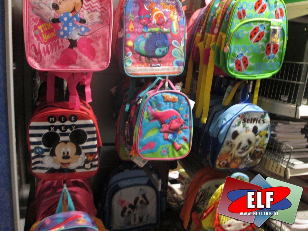 Plecaczki małe dla dzieci, szkolne i przedszkolne, Plecaczek