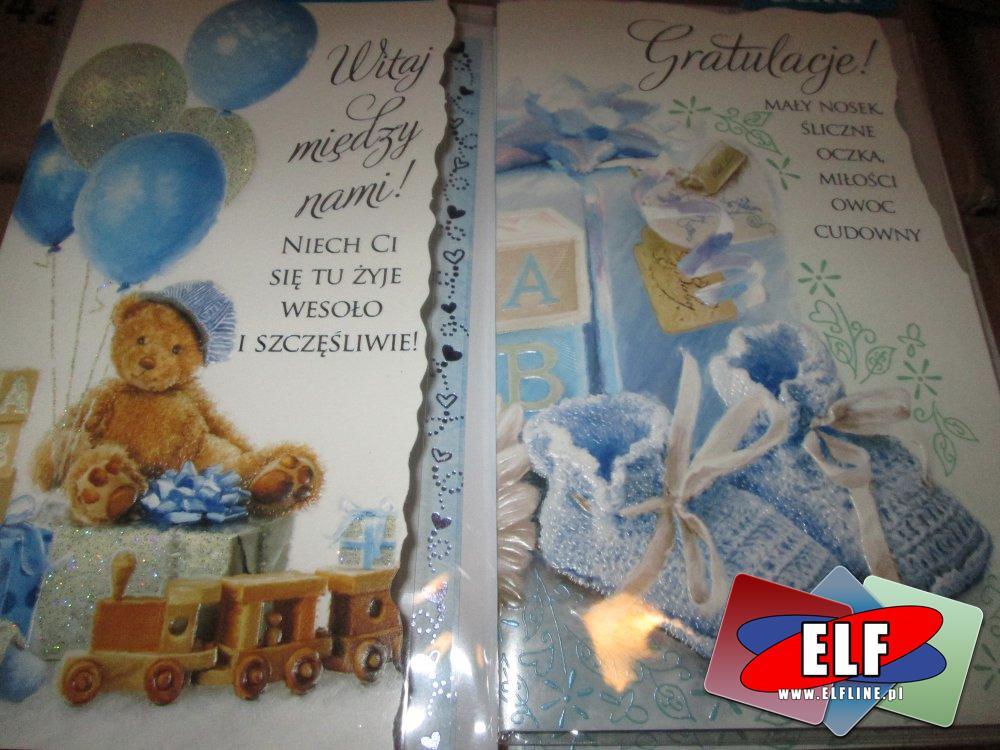 Gratulacje, Kartki upominkowe, Karnety z okazji nadrodzin dziecka