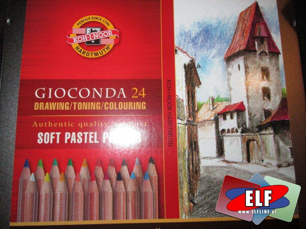 Koh-i-Noor kredki ołówkowe, pastelowe kolory, miękkie