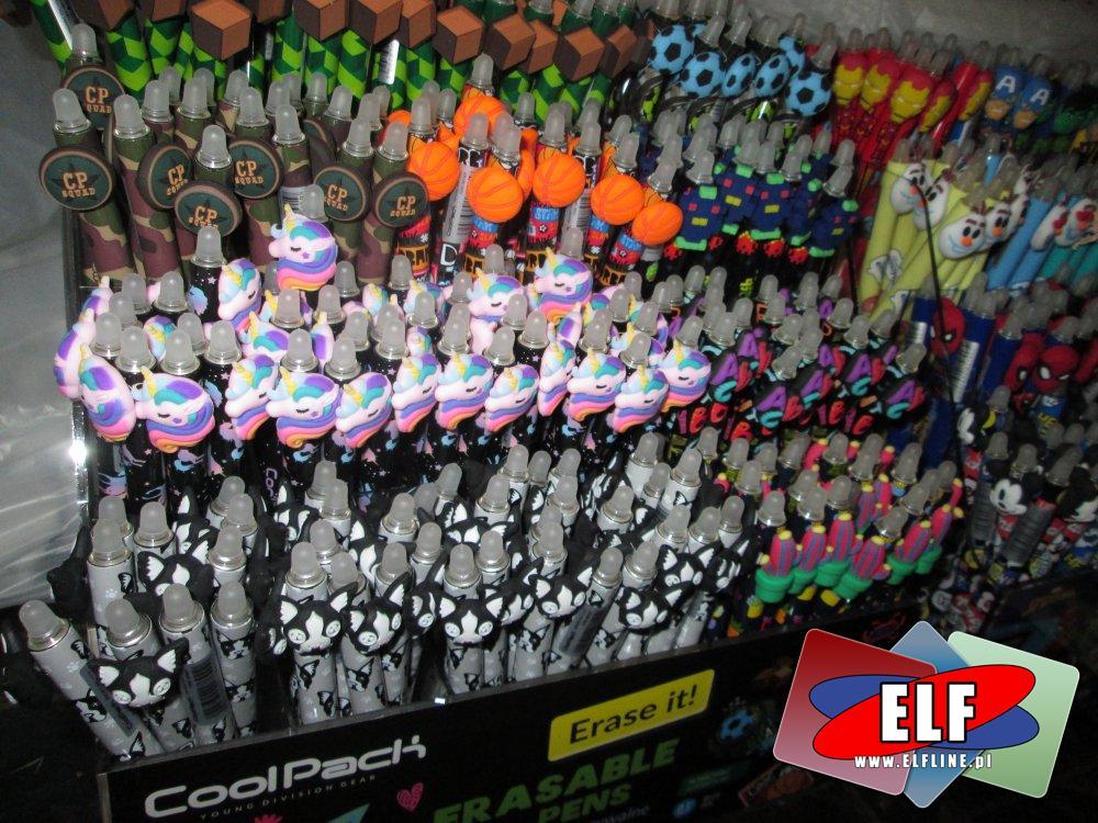 CoolPack, Wymazywalne długopisy z fajnymi końcówkami, wymazywalny długopis