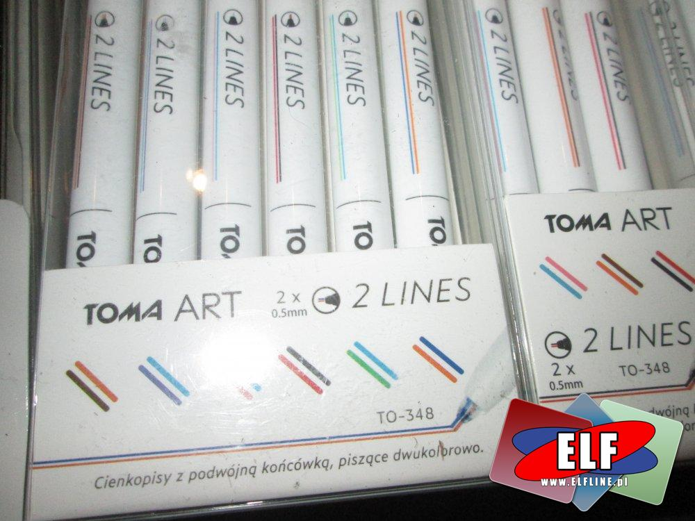 Cienkopis kolorowy, Cienkopisy kolorowe, 2 Lines, Toma Art, 2 linie