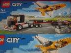 Lego City, 60289 Transporter Odrzutowca Pokazowego, klocki Lego City, 60289 Transporter Odrzutowca Pokazowego, klocki