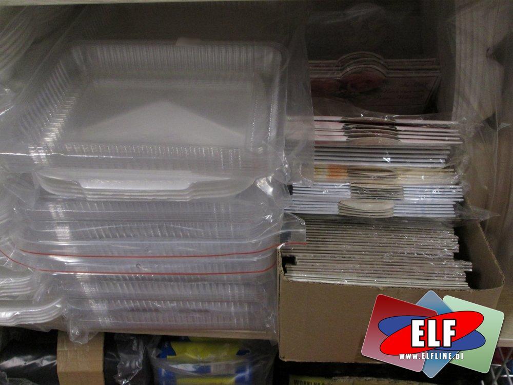 Flaczarki, Kubki, Tacki, Pojemniki na żywność, jednorazowe naczynia