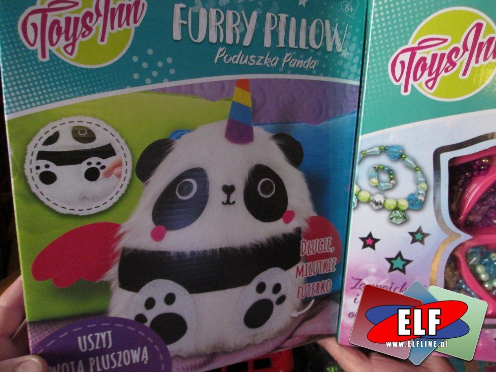 Furry Pillow, Toysinn, Poduszka Panda, Uszyj własnąpoduszkę, zestaw kreatywny, zestawy kreatywne