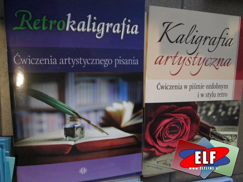 Retrokaligrafia, Kaligrafia artystyczna, Ćwiczenia w piśmie dobrym i stylu retro