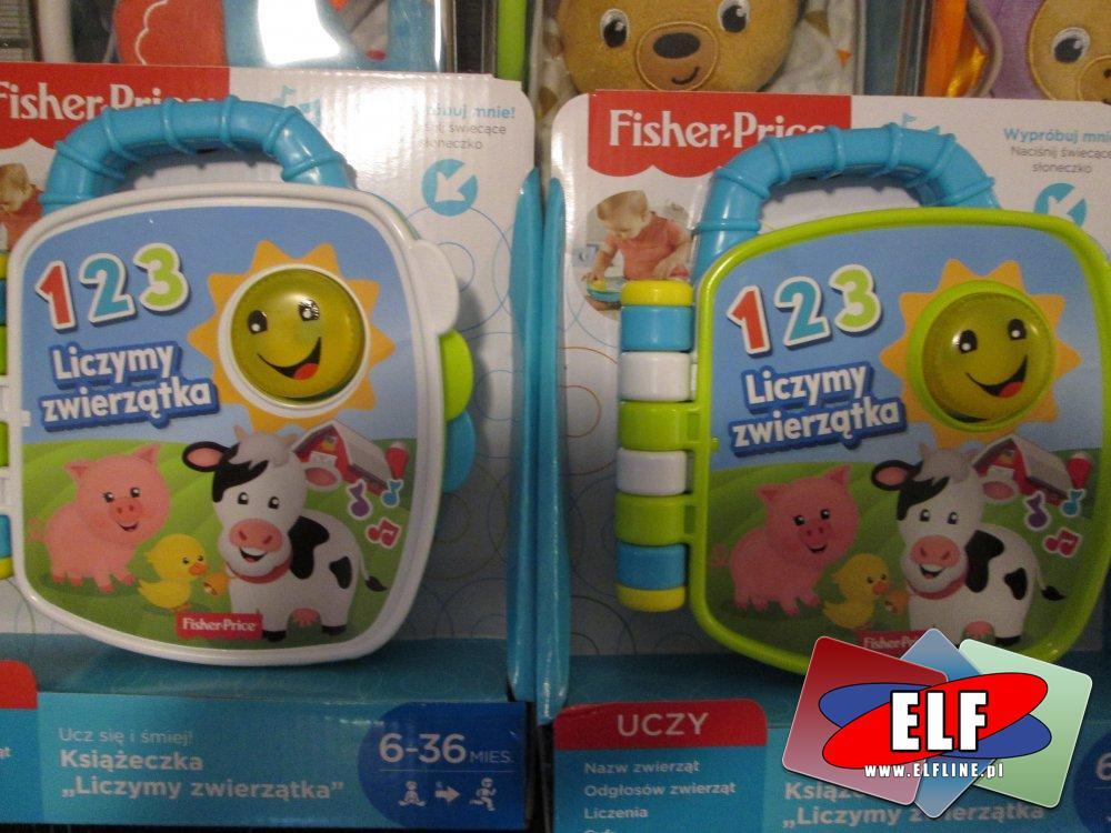 Fisher-Price, 1 2 3 Liczymy zwierzątka, książeczka edukacyjna dla dzieci, książeczki edukacyjne, interaktywne