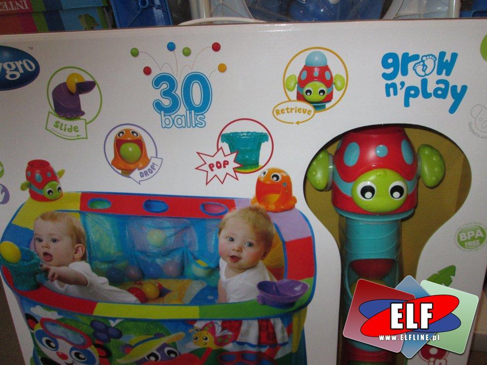 Łóżeczko z 30 piłeczkami dla maluszka, dziecka, dzieci, zabawka, zabawki