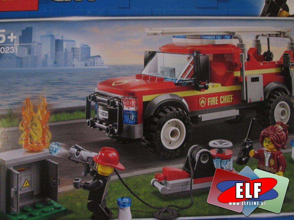 Lego City, 60231 Terenówka komendantki straży pożarnej, klocki