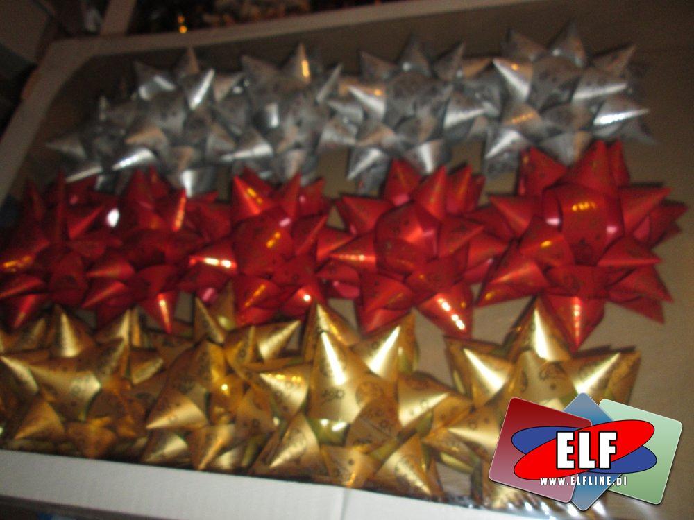 Kokardka samoprzylepna na prezent, prezentowa kokardka, kokardki prezentowe samoprzylepne