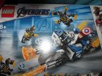 Lego Marvel Avengers, 76123 Kapitan Ameryka, atak outriderów, klocki Lego Marvel Avengers, 76123 Kapitan Ameryka, atak outriderów, klocki