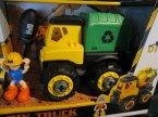 Samochody zabawki, Śmieciarka, Koparka, Spychacz, maszyny budowlane, maszyna budowlana, zabawki, zabawka