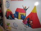 Namioty połączone tunelem, Namiot z tunelem, do zabawy i gier, Idealne do wewnątrz i na zewnątrz, namiot do zabawy dla dziecka, domek ogrodowy, domki