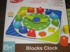 Acool Toy, Edukacyjny drewniany zegar, Klocki edukacyjne